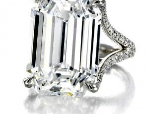 16.90-carat, D-color, internally flawless diamond ring