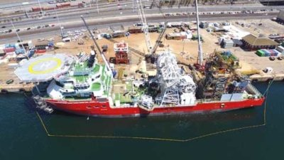 ship for diamond mining at